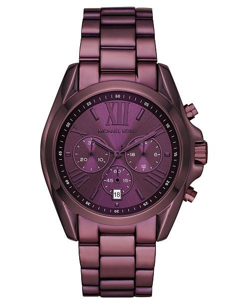 Michael Kors Women's Chronograph Bradshaw Lavender Stainless Steel Bracelet Watch 43mm
