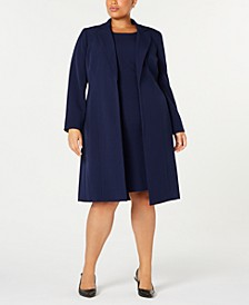 Plus Size Notched-Collar Jacket & Dress Suit