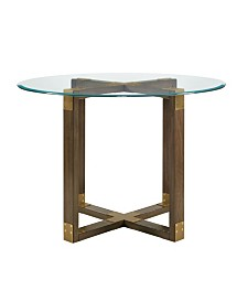 Dorel Living Dolly Glass Top Dining Table