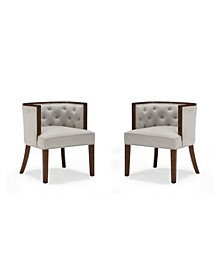 Reggie Rounded Back Accent Chair, 2-Pack