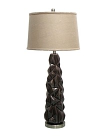 Ceramic Table Lamp with Metal Base