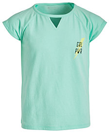 Ideology Big Girls Keyhole-Cutout Graphic-Print T-Shirt, Created for Macy's