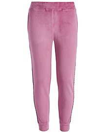 Ideology Big Girls Side-Taped Velour Sweatpants, Created for Macy's