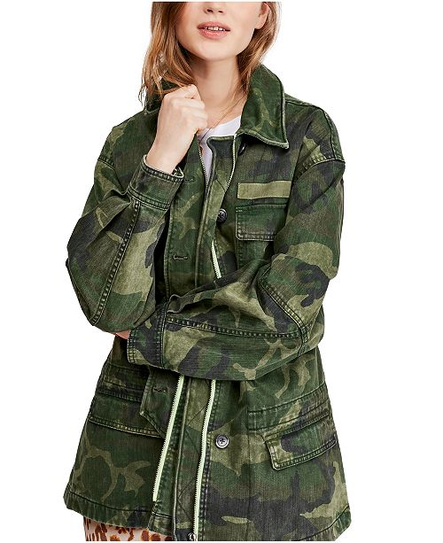 Free People Seize The Day Military Jacket