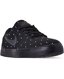 Girls SB Check Premium Print Skateboarding Casual Sneakers from Finish Line