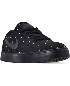 Nike Girls SB Check Premium Print Skateboarding Casual Sneakers from Finish Line