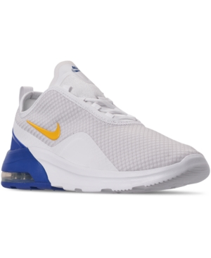 Nike Men's Air Max Motion 2 Casual Sneakers From Finish Line In White/Dk Sulfur-Game Roya