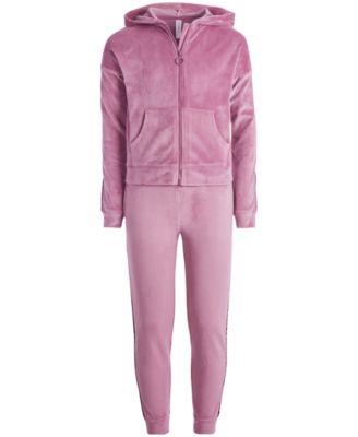 Big Girls Velour Zip-Up Hoodie, Created for Macy's