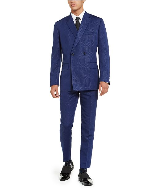 INC International Concepts INC ONYX Men's Oil Slick Blazer, Created For Macy's