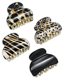INC 4-Pc. Animal-Print Hair Clip Set, Created for Macy's