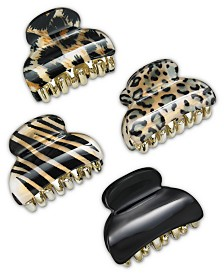 I.N.C. 4-Pc. Animal-Print Hair Clip Set, Created for Macy's