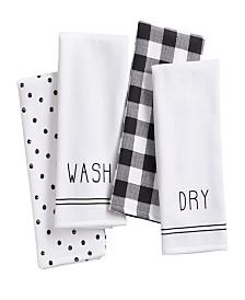 Elrene Farmhouse Living Sentiments Kitchen Towels - Set of 4