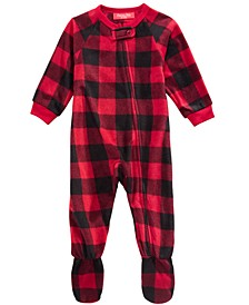 Matching Baby Buffalo-Check Footed Pajamas, Created for Macy's