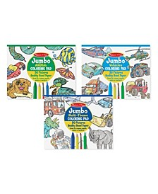 Coloring Pad Bundle - Animals, Vehicles and Multi-Theme
