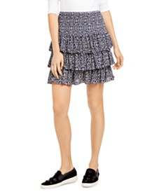 Michael Michael Kors Petite Printed Tiered Skirt