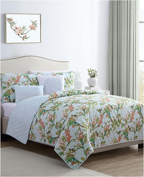 VCNY Home Chelsea Springs 5PC King Quilt Set