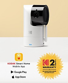 Kodak Cherish C125 Add-On Smart Video Baby Camera With Mobile App, Remote Tilt, Pan And Zoom Two-Way Audio, Night-Vision, Long Range