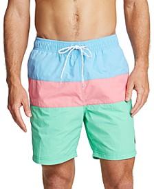 "Men's 9"" Colorblocked Drawstring Swim Shorts"