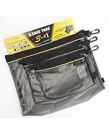 Water Resistant Nylon Paks Set of 3
