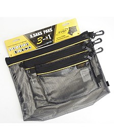 A. Saks Water Resistant Nylon Paks Set of 3