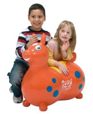 Orange Gymnic Rody Max Inflatable Hopping Horse