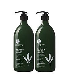 Luseta Tea Tree & Hemp Oil Shampoo & Conditioner Set 67.6 Ounces