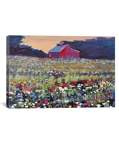 "iCanvas Red Barn And Flowers by Kip Decker Wrapped Canvas Print - 26"" x 40"""
