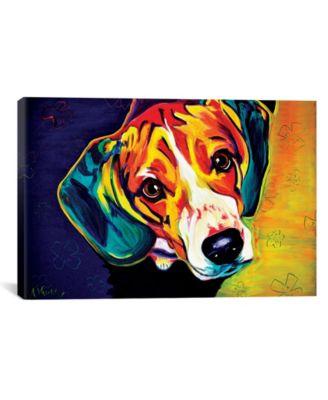 "Beagle Bailey by Dawgart Wrapped Canvas Print - 26"" x 40"""