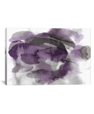 Amethyst Flow Ii by Kristina Jett Wrapped Canvas Print - 18