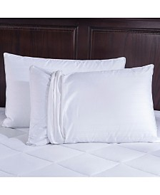 Puredown Bed Pillow with 2 Washable Covers Standard Queen Size Set of 2