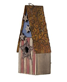 Glitzhome Solid Wood and Metal Rustic Birdhouse