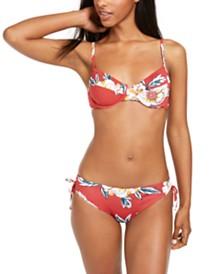 Roxy Juniors' Beach Classics Printed Underwire Bikini Top & Beach Classics Printed Bikini Bottoms