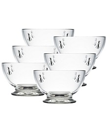La Rochere Napoleon Bee 21-ounce Bowl, Set of 6