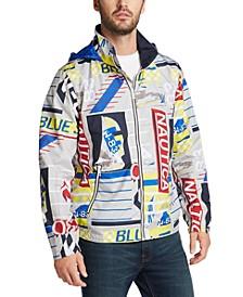 Men's Blue Sail Transom J-Class Logo Print Lightweight Jacket, Created for Macy's