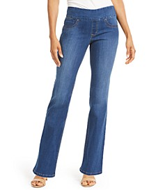 Petite Ella Pull-On Bootcut Jeans, Created For Macy's