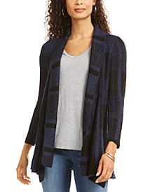 Petite Plaid Boucle Cardigan, Created for Macy's