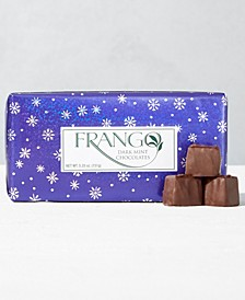 1/3 LB Holiday Wrapped  Dark Mint Chocolate Holiday Box