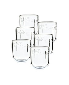 La Rochere Dragonfly 10-ounce Tumbler, Set of 6.