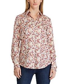 Lauren Ralph Lauren Floral-Print Cotton Sateen Shirt