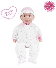 """La Baby 20"""" Washable Soft Body Baby Doll With Accessories for Children 2 Years and Older, Designed by Berenguer"""