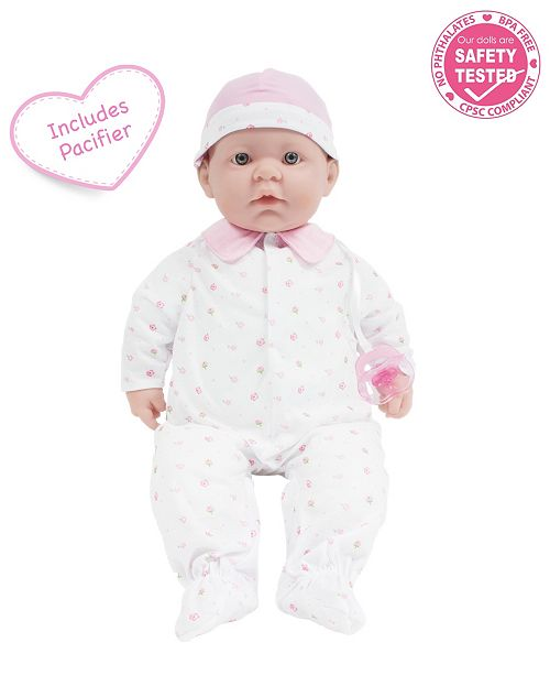 JC TOYS La Baby 20 inch Pink Washable Soft Body Baby Doll with Accessories - For Children 2 Years and older, Designed by Berenguer.