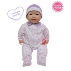 """La Baby Asian 20"""" Soft Body Baby Doll Purple Outfit"""