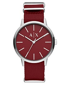 Men's Cayde Red Nylon Strap Watch 42mm