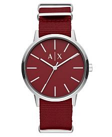 A X Armani Exchange Men's Cayde Red Nylon Strap Watch 42mm