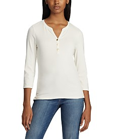 Lauren Ralph Lauren Stretch Henley T-Shirt