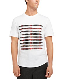 INC Men's Slash Plaid T-Shirt, Created for Macy's