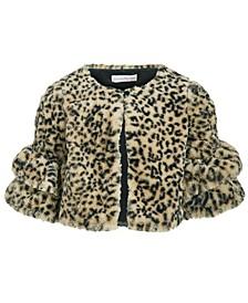Little Girls Animal-Print Faux-Fur Jacket