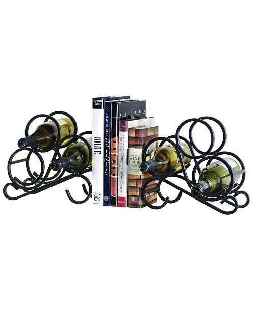 Oenophilia Scroll Rack Bookends Pair