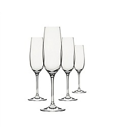 Clear Champagne Drinkware, Set of 4