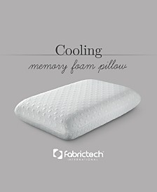 Fabric Tech Cool Cover Memory Foam Queen Pillow